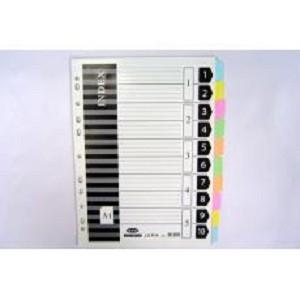 聯勤 11孔十段分段卡(紙質) LC-P10