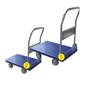 手推車 (塑膠藍) 大 2尺*3尺 5F7