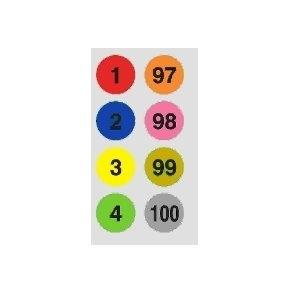 鶴屋 8mm圓形標籤(1~100) 085
