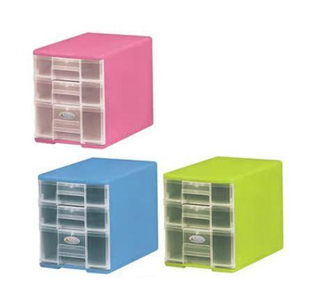 樹德 玲瓏三層收納盒 B5-PC12 粉紅/粉藍/...