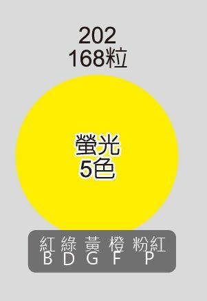 鶴屋 20mm圓形標籤 202 螢光色