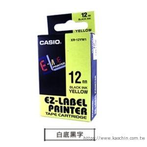 CASIO 12mm標籤機色帶 KR-12WE1 ...