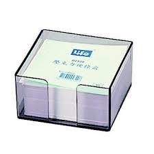 LIFE 壓克力便條盒(附紙) 9X9cm NO.2320