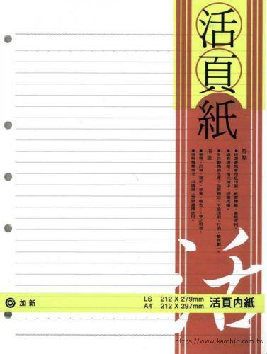 加新 LN13K-5孔活頁紙 3LN1305